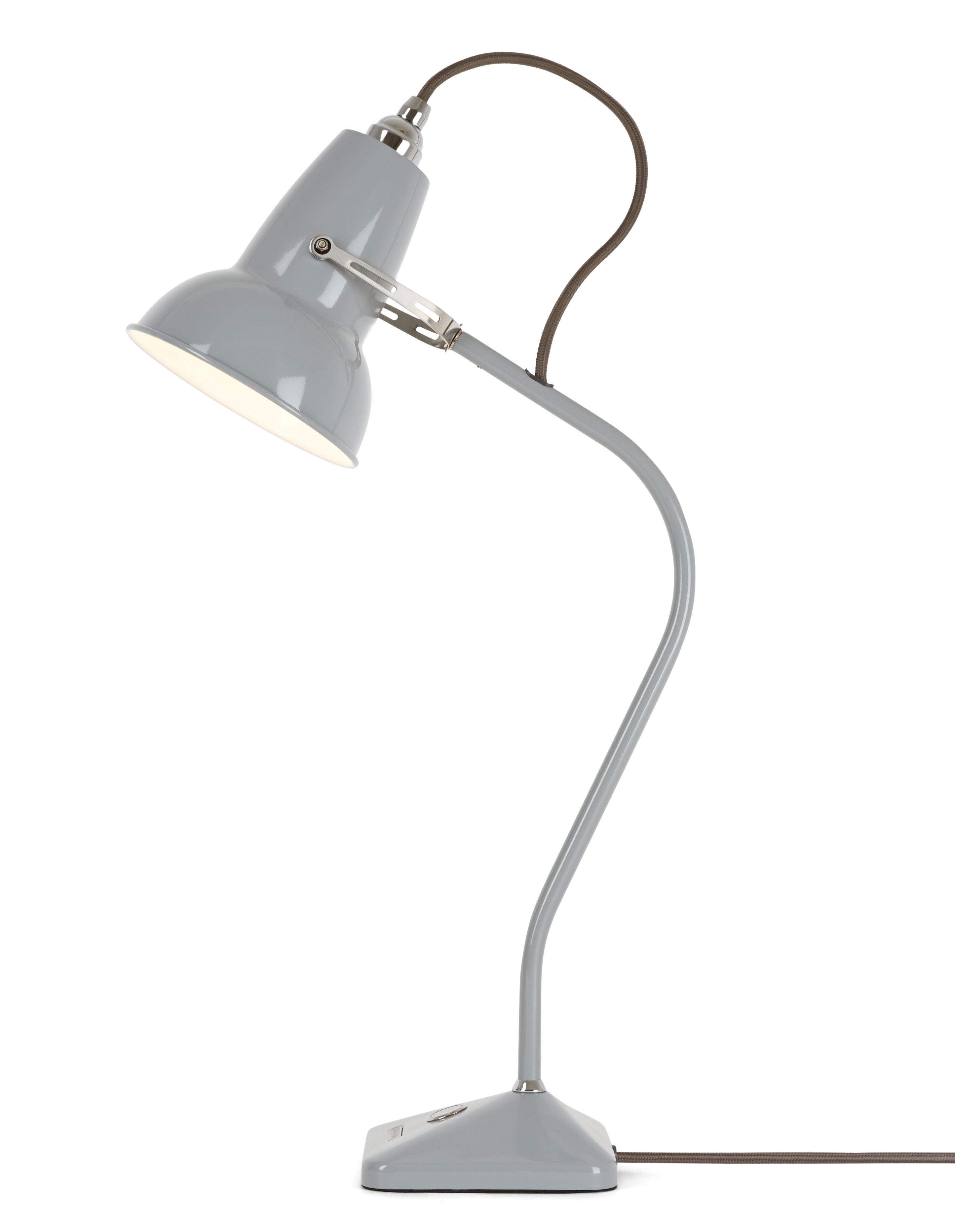 Illuminazione - Lampade da tavolo - Lampada da tavolo Original 1227 Mini / Braccio fisso - H 52 cm - Anglepoise - Grigio colomba - Acciaio, Fonte de fer