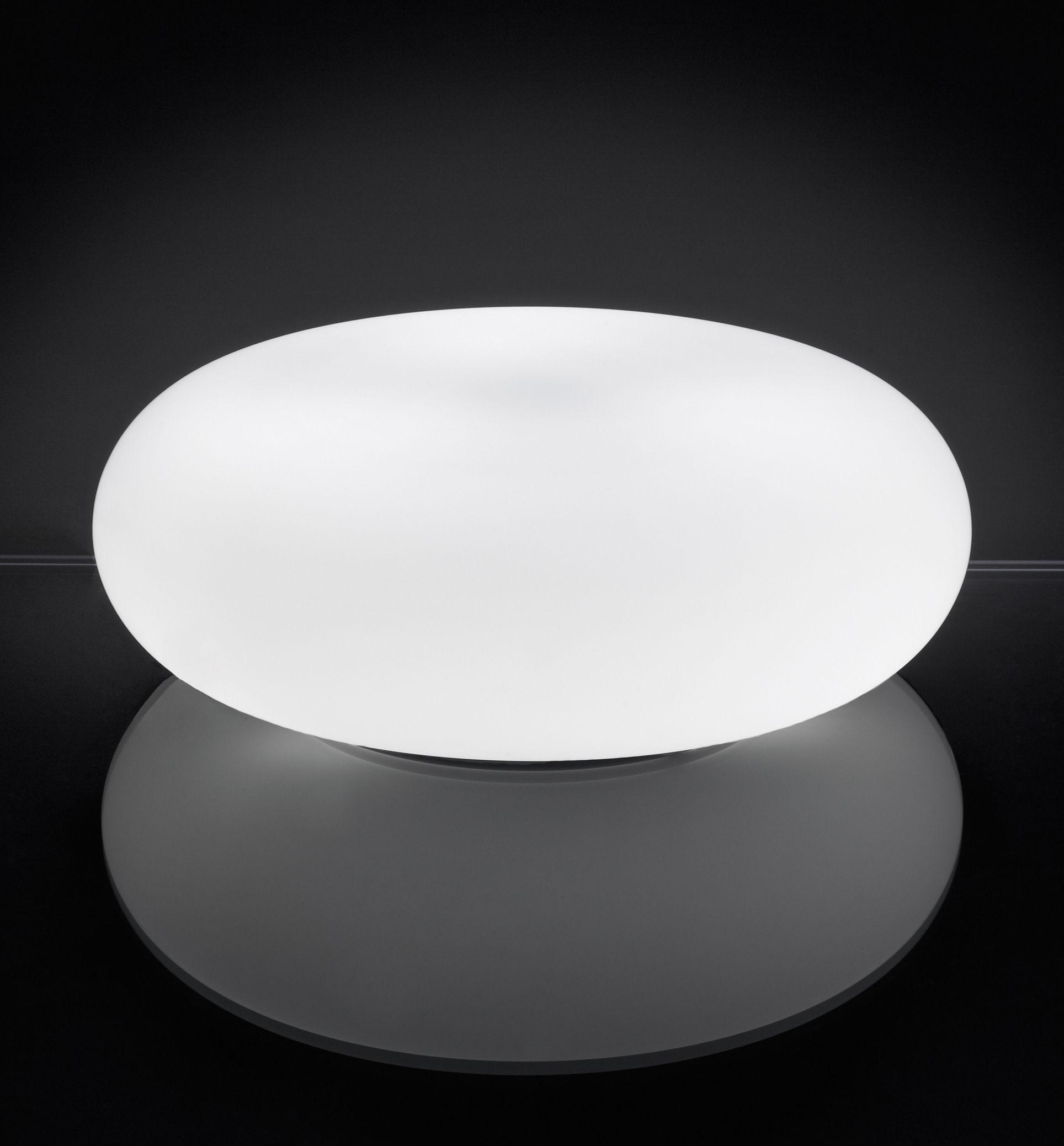 Luminaire - Lampes de table - Lampe de table Itka Ø 35 cm - Danese Light - Blanc - Ø 35 cm - Métal, Verre