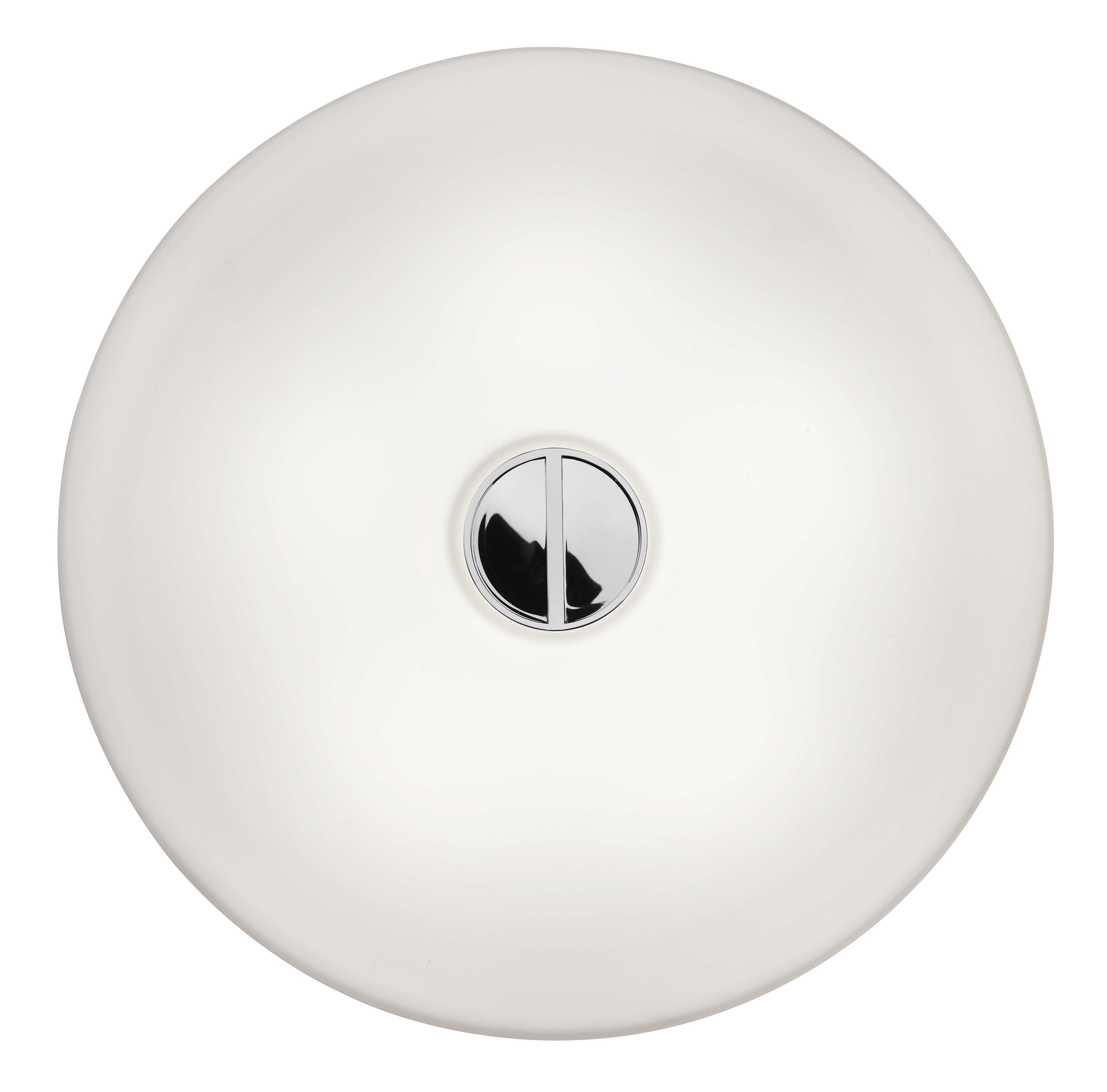 Lighting - Wall Lights - Mini Button Outdoor wall light by Flos - White/White - Glass