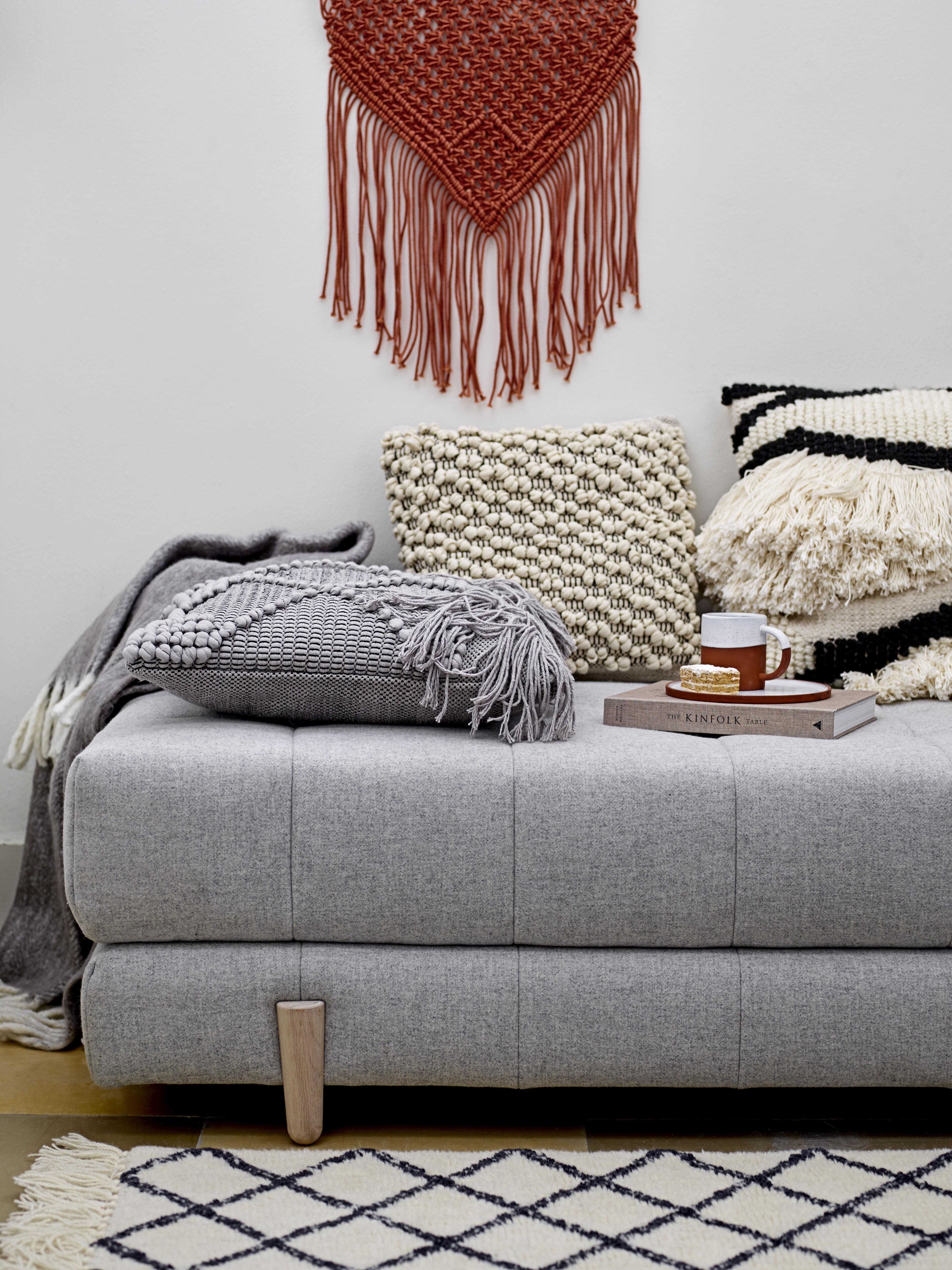 Scopri panca bulky divano dormeuse trasformabile in letto a 2 piazze di bloomingville made - Divano letto 2 piazze ...