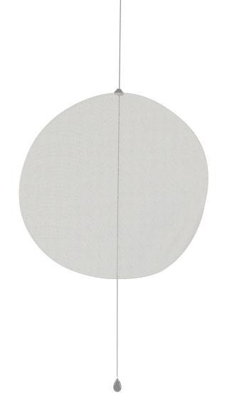 Arredamento - Separè, Paraventi... - Paravento/divisorio Mobileshadows - Nimbo - Semi-trasparente di Smarin - 56 x 54 cm - Semi-trasparente - Acciaio, Lino