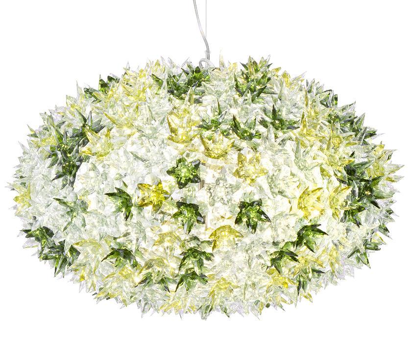 Leuchten - Pendelleuchten - Bloom Bouquet Pendelleuchte runder Strauß - Large - Ø 53 cm x H 35 cm - Kartell - Minze - Polykarbonat