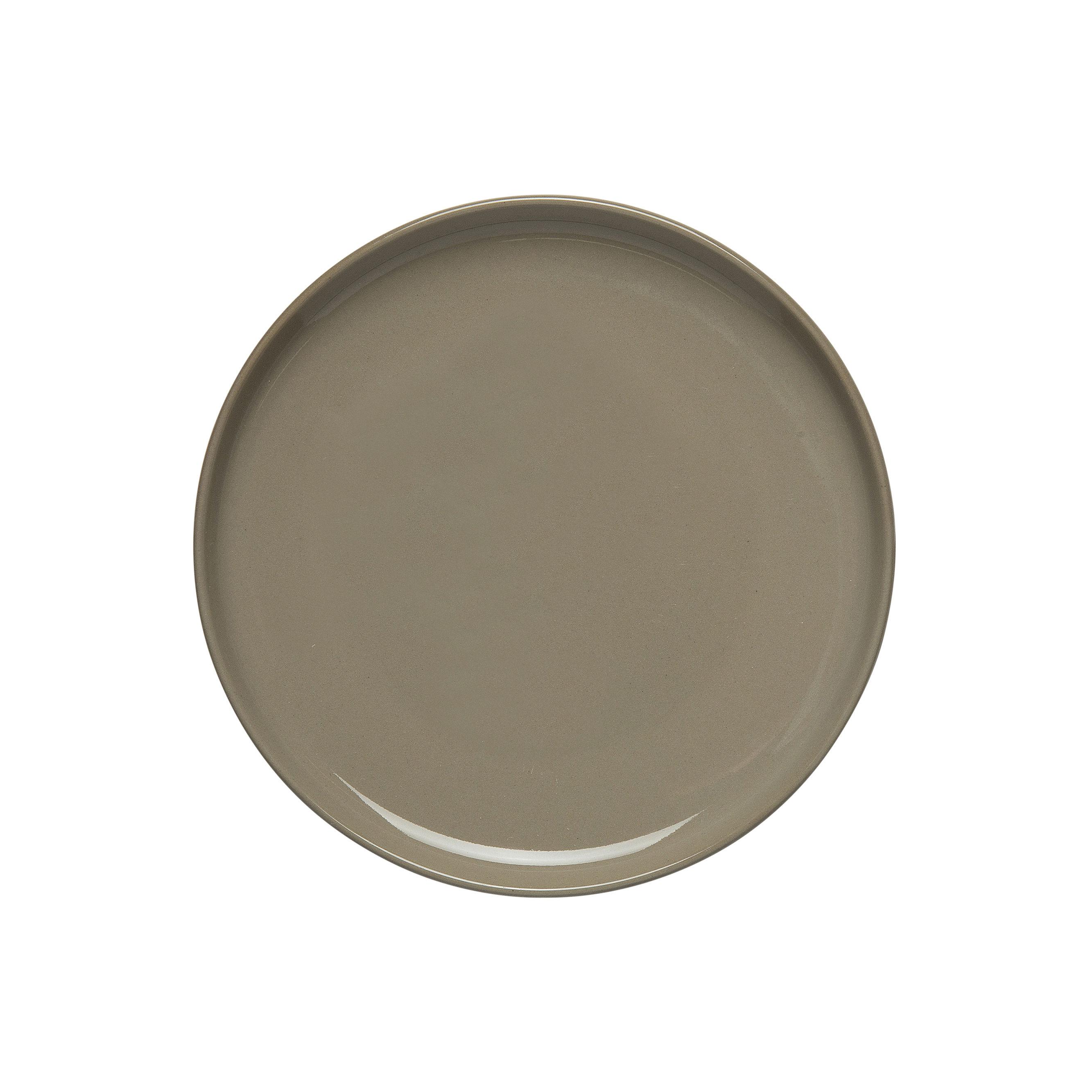 Tableware - Plates - Oiva Petit fours plates - / Ø 13.5 cm by Marimekko - Oiva / Earth Beige - Sandstone