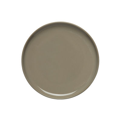 Tavola - Piatti  - Piatto per dolcetti Oiva - / Ø 13,5 cm di Marimekko - Oiva / Terra Beige - Gres