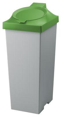 Poubelle Top / Pour tri sélectif - 20 Litres - Authentics vert en matière plastique