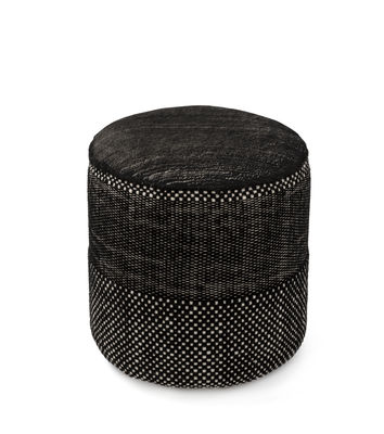 Furniture - Poufs & Floor Cushions - Tres Persian Pouf by Nanimarquina - Black - Felted wool, PU foam, Wood, Wool