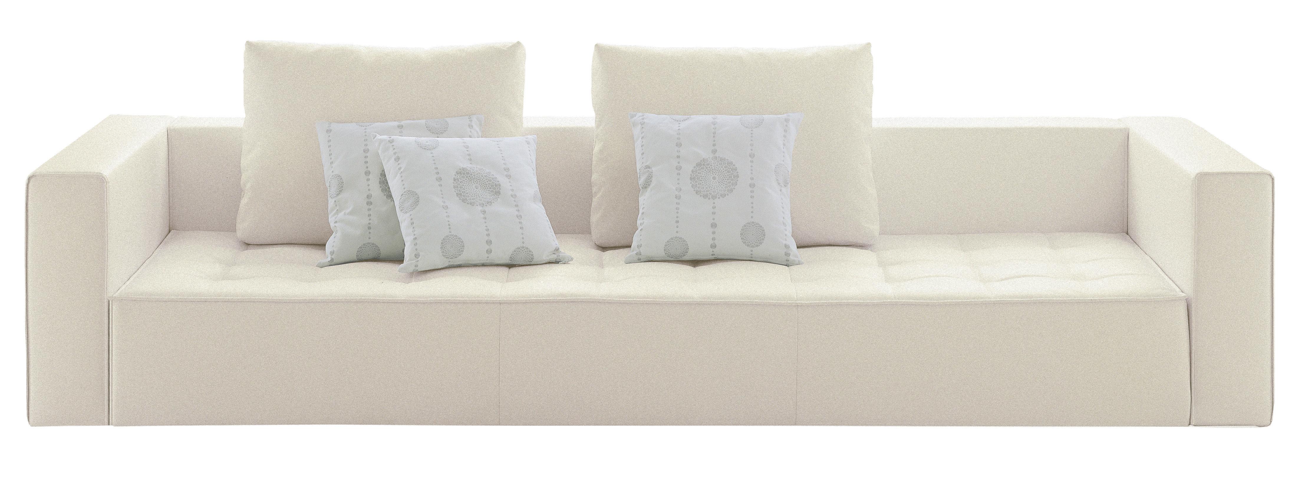 Möbel - Sofas - Kilt Sofa Stoff - 3-Sitzer - Zanotta - Stoff - creme - Gewebe