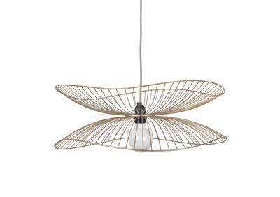 Illuminazione - Lampadari - Sospensione Libellule Small - / Ø 56 x H 20 cm di Forestier - Champagne - Fili di ferro laccati