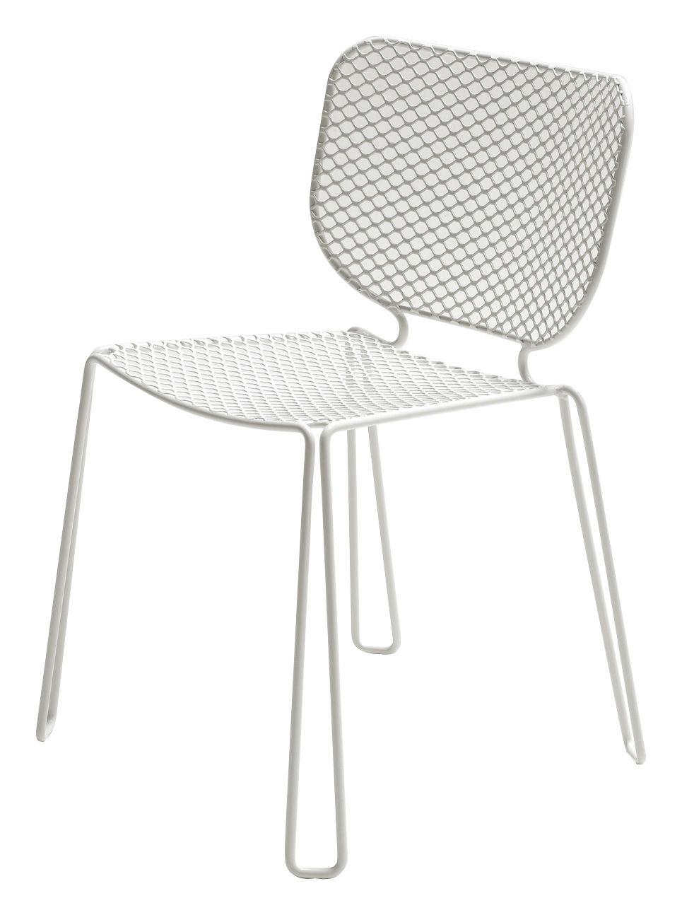 Möbel - Stühle  - Ivy Stapelbarer Stuhl - Emu - Weiß - Stahl