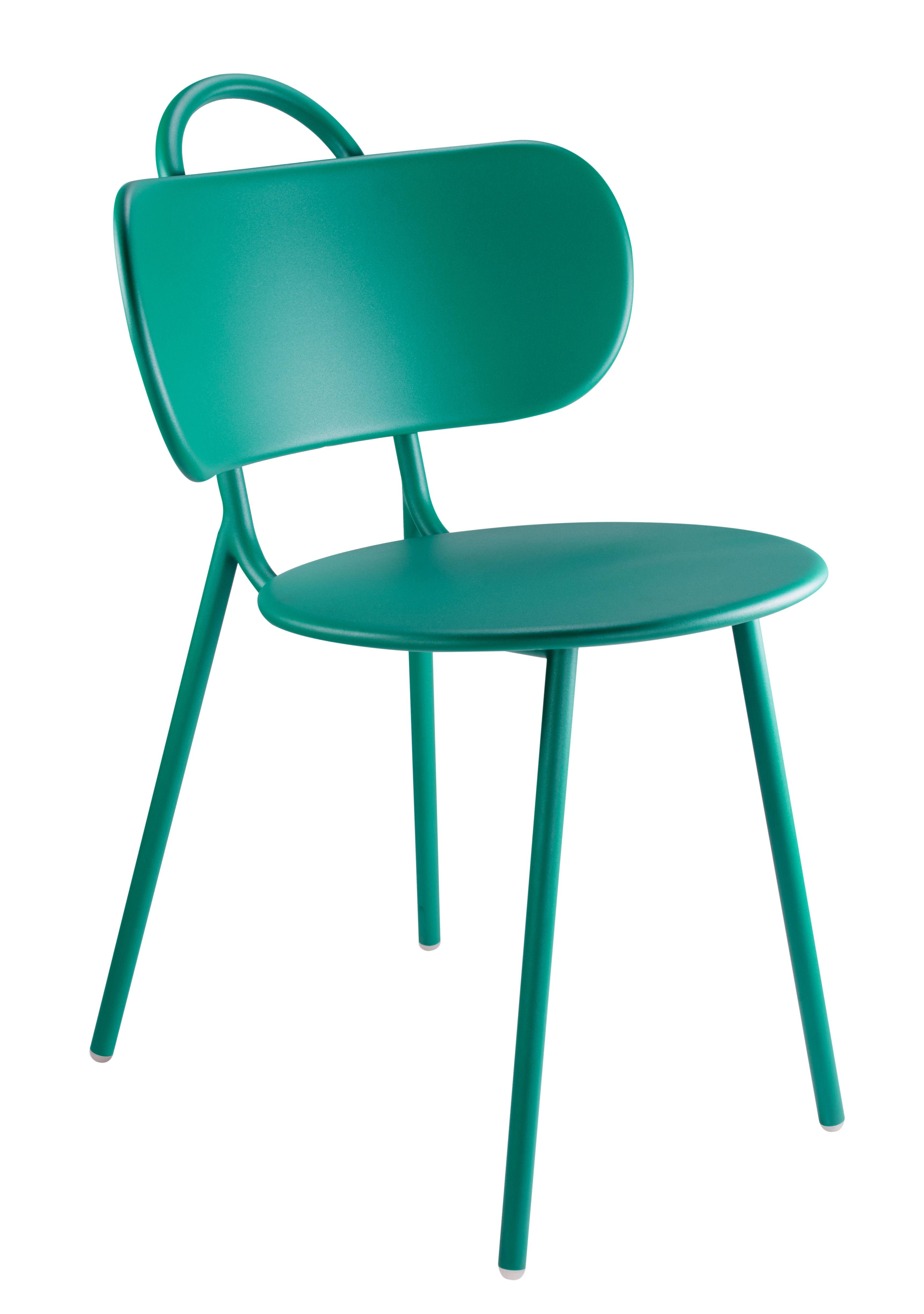 swim stuhl f r haus terrasse und garten metall t rkisblau by bibelo made in design. Black Bedroom Furniture Sets. Home Design Ideas