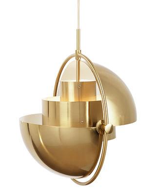 Luminaire - Suspensions - Suspension Multi-Lite Large / Ø 36 cm - Modulable & orientable / Réédition 1972 - Gubi - Laiton - Métal