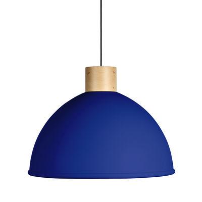 Suspension Olot / Ø 58,5 cm - Métal & bois - EASY LIGHT by Carpyen hêtre naturel,bleu océan en métal