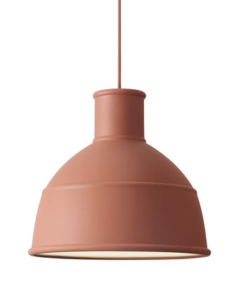 Luminaire - Suspensions - Suspension Unfold / en silicone - Muuto - Terracotta - Silicone