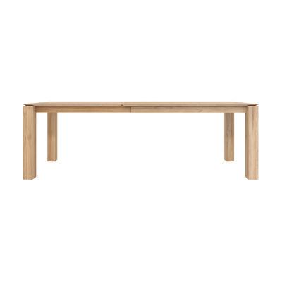 Mobilier - Tables - Table à rallonge Slice / Chêne massif - L 160 à 240 cm / 10 personnes - Ethnicraft - 160/240 cm - Chêne - Chêne massif