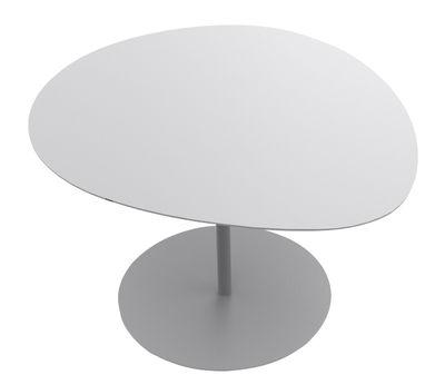 Table basse Galet n°3 / INDOOR - 57 x 64 cm - H 37,5 cm - Matière Grise gris en métal