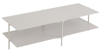 Table basse Tier / Métal - L 120 x H 46 cm - Umbra Shift gris clair en métal