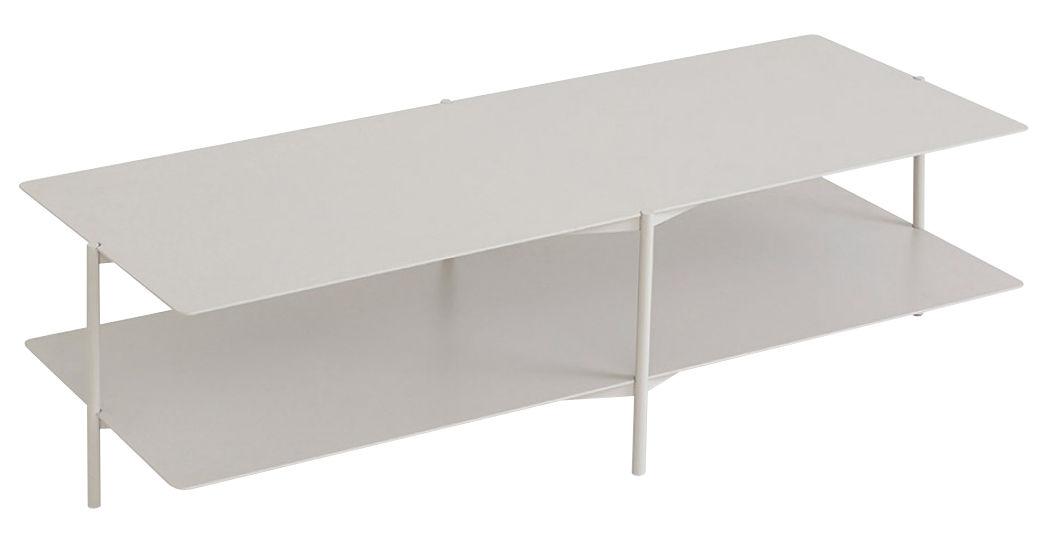 Mobilier - Tables basses - Table basse Tier / Métal - L 120 x H 46 cm - Umbra Shift - Gris clair - Acier laqué