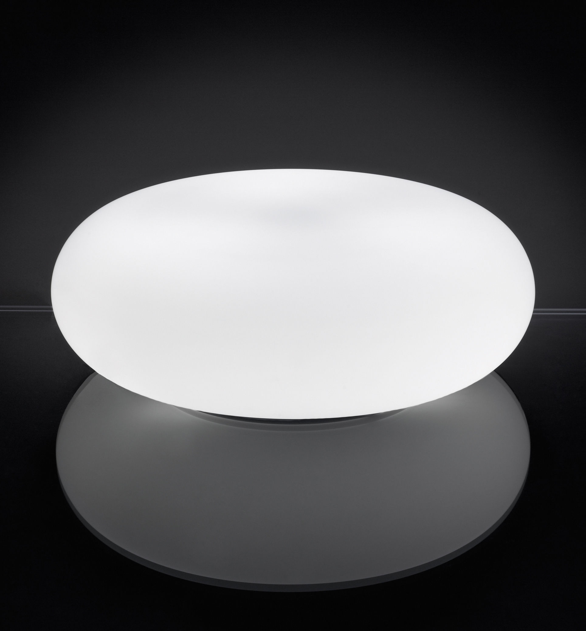 Lighting - Table Lamps - Itka Table lamp - Ø 35 cm by Danese Light - White - Ø 35 cm - Glass, Metal