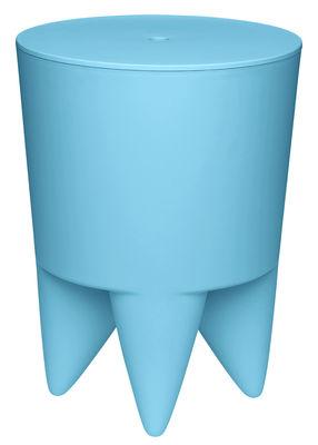 Mobilier - Tabourets bas - Tabouret New Bubu 1er / Coffre - Plastique - XO - Bleu tropique - Polypropylène
