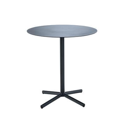 Outdoor - Tavoli  - Tavolo rotondo Flor - / Métal - Ø 60 cm di Houe - Nero - Alluminio laccato a polvere