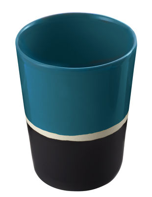 Verre Sicilia - Maison Sarah Lavoine blanc,noir,bleu sarah en céramique