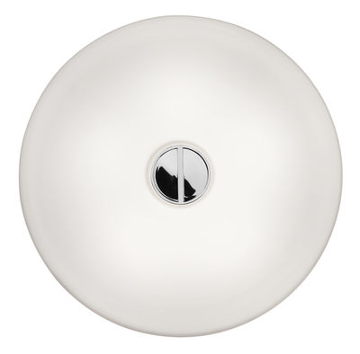 Lighting - Wall Lights - Mini Button INDOOR Wall light by Flos - White/White - Glass