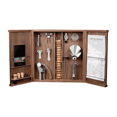 Tischkultur - Bar, Wein und Apéritif - Oeno-Curiosités Weinbox / 9 Teile - Box aus Nussbaum - L'Atelier du Vin - Nussbaum - Glas, Holz, Metall