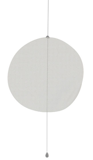 Möbel - Paravents, Raumteiler und Trennwände - Mobileshadows - Nimbo Zwischenwand halbtransparent - 56 x 54 cm - Smarin - 56 x 54 cm - halbtransparent - Leinen, Stahl