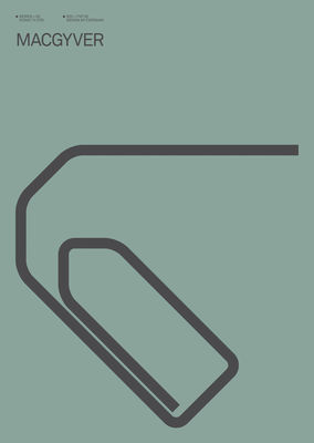 Déco - Objets déco et cadres-photos - Affiche Mac Gyver / 30 x 40 cm - Image Republic - Mac Gyver - Papier