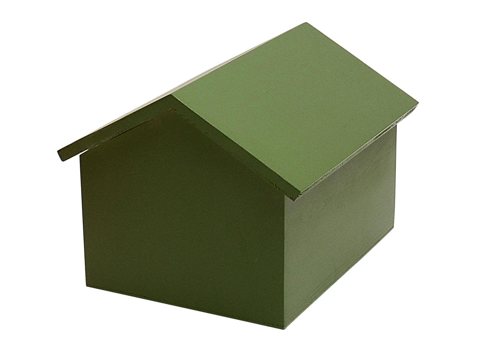 Arredamento - Mobili per bambini - Baule Maison - / Small - L 35 cm di Compagnie - Verde - MDF tinto