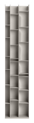 Bibliothèque Random 3C / L 46 x H 217 cm - MDF Italia gris cendre en bois