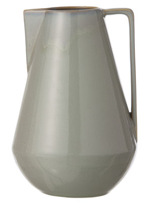 Tableware - Water Carafes & Wine Decanters - Neu Large Carafe - Ø 15 x H 22 cm by Ferm Living - Grey - Glazed ceramic