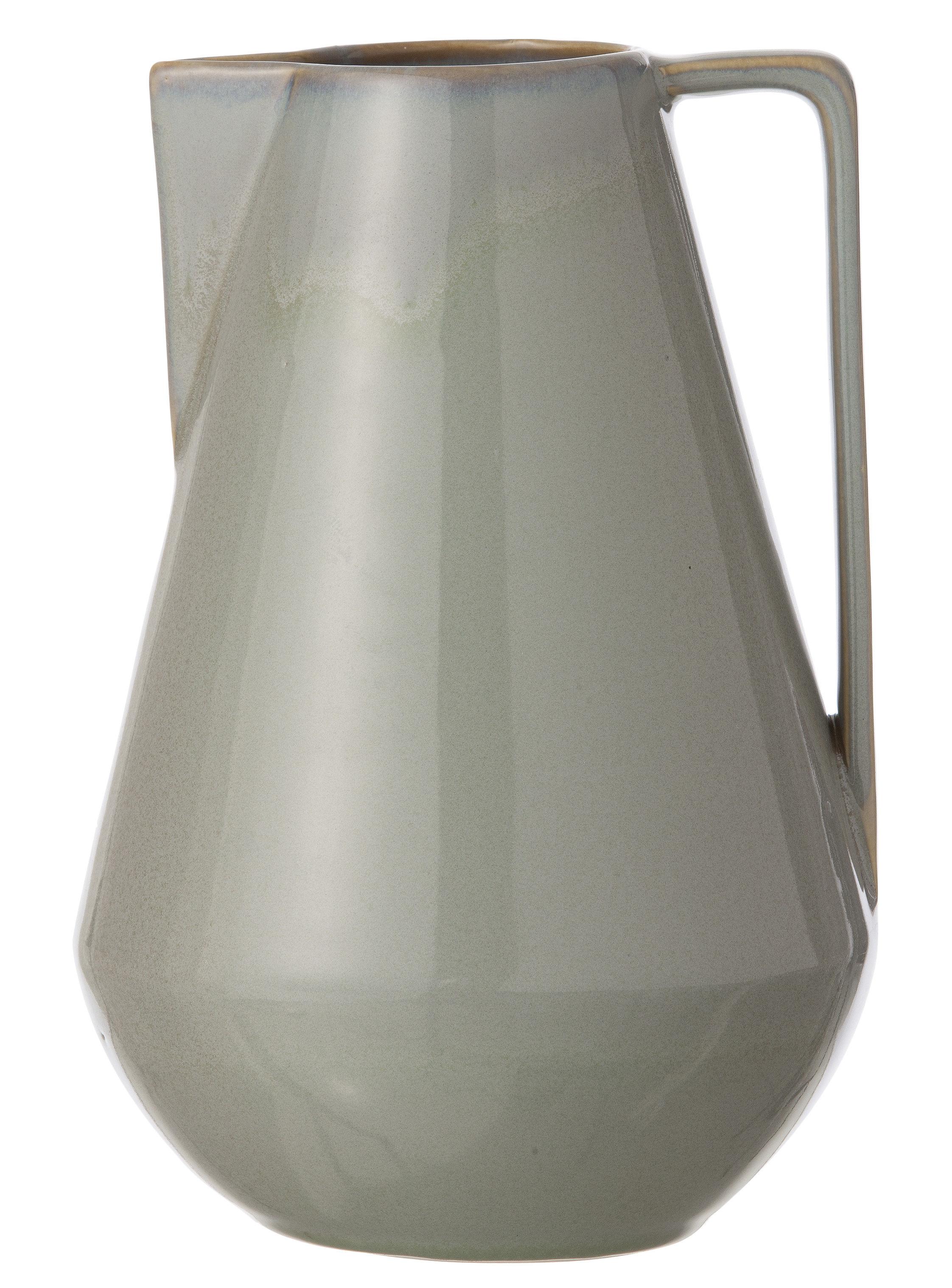 Arts de la table - Carafes et décanteurs - Carafe Neu Large / Ø 15 x H 22 cm - Ferm Living - Gris - Céramique émaillée