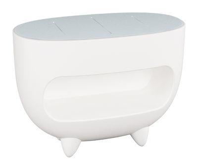 Mobilier - Mobilier lumineux - Comptoir lumineux Splay / L 130 cm - Slide - Blanc - Polyéthylène, Verre trempé