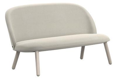 Arredamento - Divani moderni - Divano angolare destro Ace / 2 posti - L 145 cm - Tessuto - Normann Copenhagen - Tessuto beige - Faggio tinto, Tessuto Nist