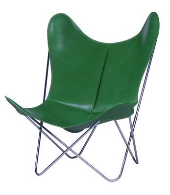 Chaise AA Butterfly / Cuir - AA-New Design vert en cuir