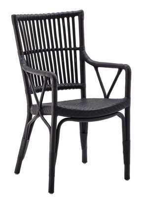Chaise Piano - Sika Design noir en rotin & fibres