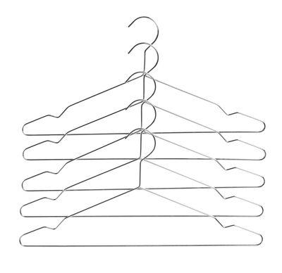 Decoration - Coat Stands & Hooks - Hang Hanger - / Set of 5 - Metal by Hay - Silver - Steel