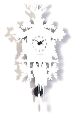 Déco - Horloges  - Horloge murale Cucù Mignon / Avec balancier - H 34 cm - Diamantini & Domeniconi - Blanc - Acier