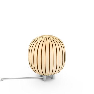 Lampe de table Filigrana / Verre soufflé bouche - Established & Sons blanc,noir en verre
