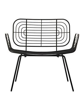 Boston Lounge Sessel / Metall - Pols Potten - Schwarz