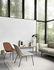 Fiber Lounge Lounge Sessel / gepolstert - Stuhlbeine Metall - Lederbezug - Muuto