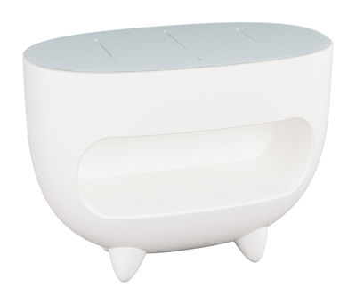 Furniture - Illuminated Furniture & Light UP Tables - Splay Luminous counter by Slide - White - Polyéthylène recyclable, Soak glass