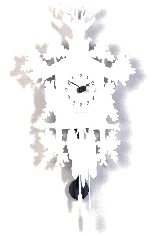 Scopri Orologio Cucù mignon -con pendolo - A 34 cm, Bianco di ...