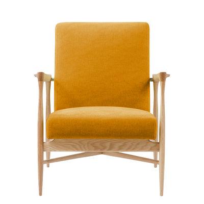 Furniture - Armchairs - Floating Padded armchair - / Fabric - Oak structure by RED Edition - Ochre / Oak - Cotton, HR foam, Solid oak
