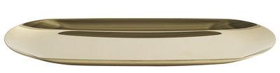 Tavola - Vassoi  - Vassoio Tray Large / L 23 cm - Hay - Oro - Acciaio inossidabile