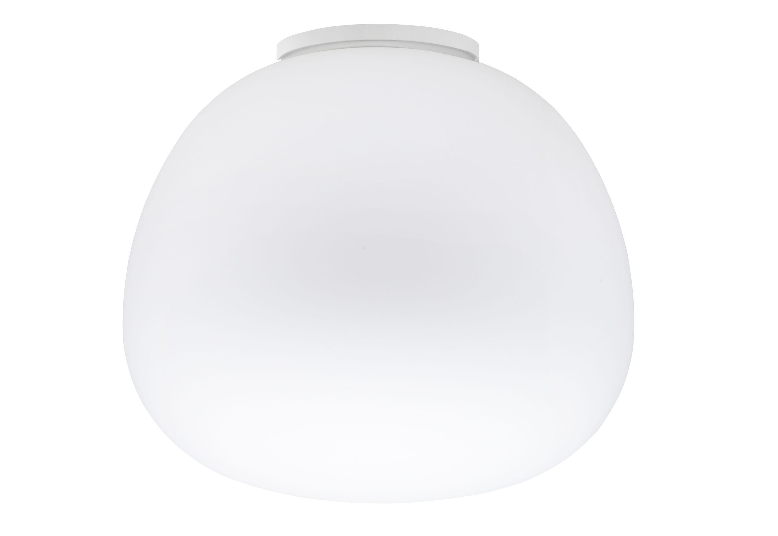 Illuminazione - Plafoniere - Plafoniera Mochi - Ø 45 cm di Fabbian - Bianco - Ø 45 cm - Vetro