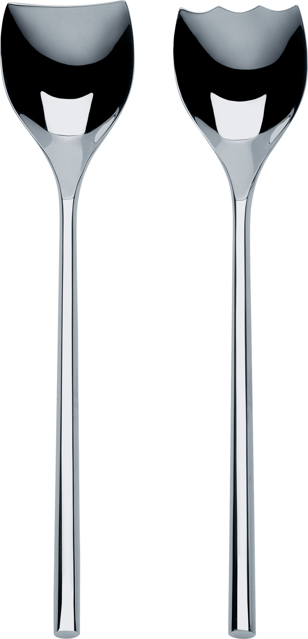 Tableware - Serving Cutlery - Mu Salad servers by Alessi - Steel - Stainless steel 18/10