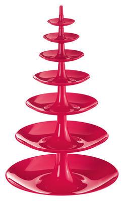 Arts de la table - Corbeilles, centres de table - Serviteur Babell XL / Ø 31 x H 50 cm - Koziol - Framboise - Polypropylène
