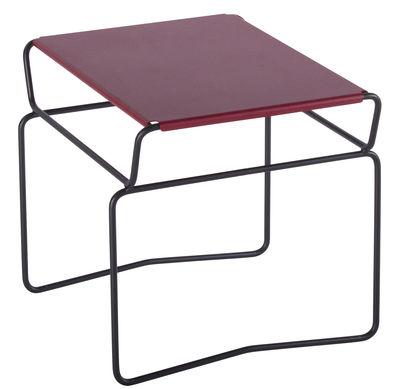 Table basse Fil Confort / 46 x 41 cm - AA-New Design rouge en métal
